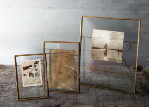 Nkuku Dante Antique Brass Stand Up Picture Frames