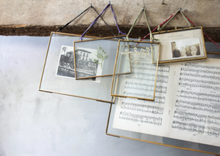 Load image into Gallery viewer, Nkuku Kiko Glass Hanging Frames | Brass | Landscape