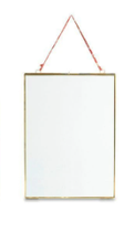 Load image into Gallery viewer, Nkuku Kiko Glass Frames | Brass | Portrait