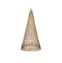 Load image into Gallery viewer, Nkuku Ngoni Brass Wire Christmas Tree Table Decoration | Medium