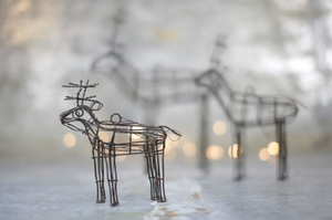 Small wire reindeer handmade