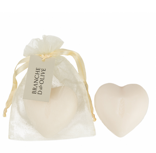 Heart shaped soap scented with Lilly of the valley 100g
