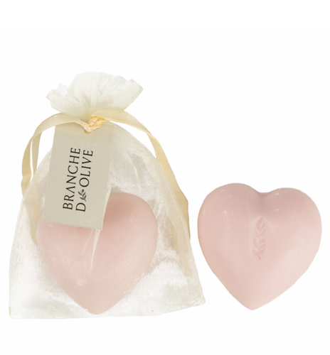 Pink Rose Scented  Heart Shaped Soap 100g