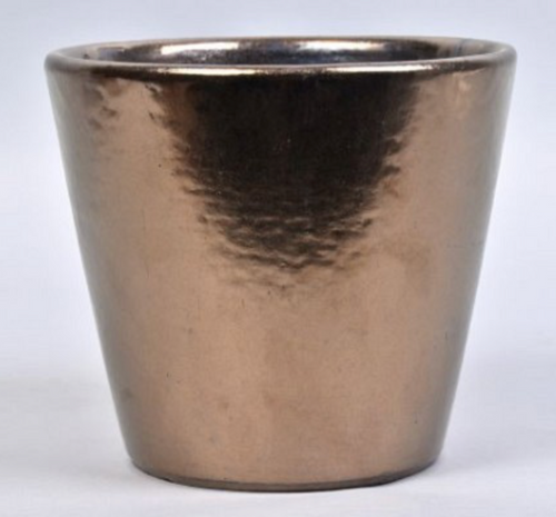 Bronze glazed large pot 20 X 18cm