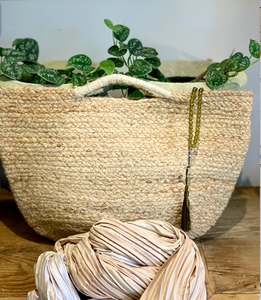 CHALK Jute Shopper | Natural