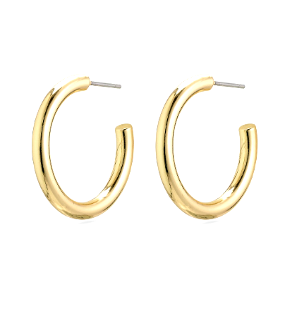 Ceylon gold plated hoop earrings