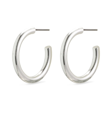 Ceylon silver plated hoop earrings