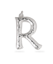 Load image into Gallery viewer, Pilgrim Large silver plated letter R pendant