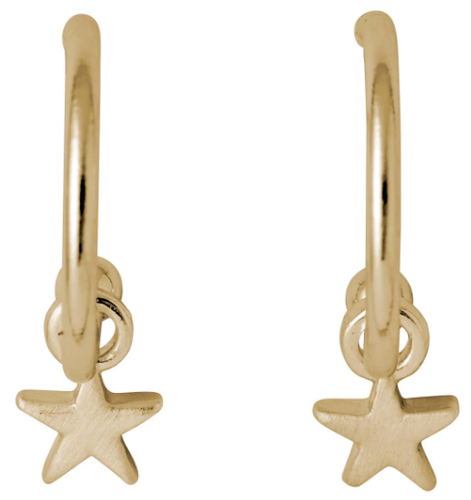 pilgrim ava small hoop earrings with star