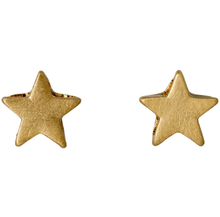 Load image into Gallery viewer, Ava gold plated mini star stud earrings pilgrim