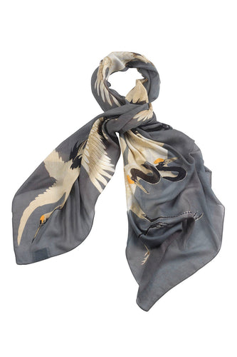 Stork scarf in slate grey