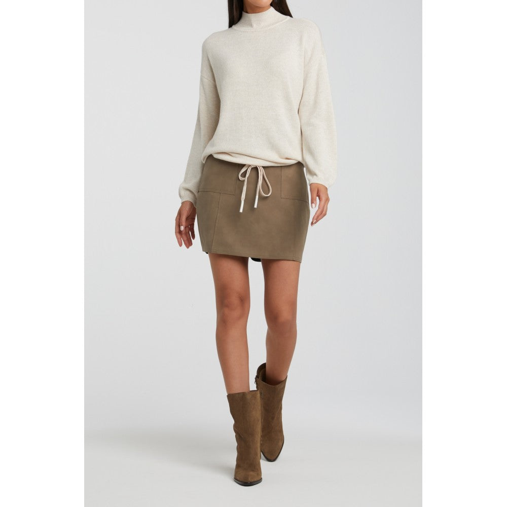 faux leather mini skirt with front pockets Yaya 140975-011