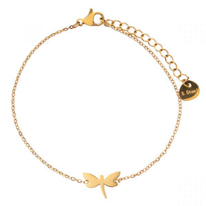 Gold Plated Delicate Dragonfly Clasp Bracelet