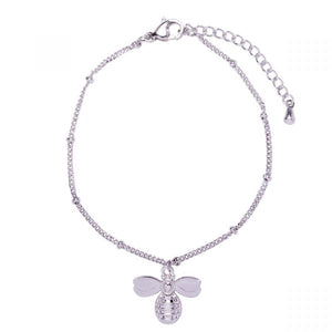 White Gold Plated Manchester Bee Bracelet