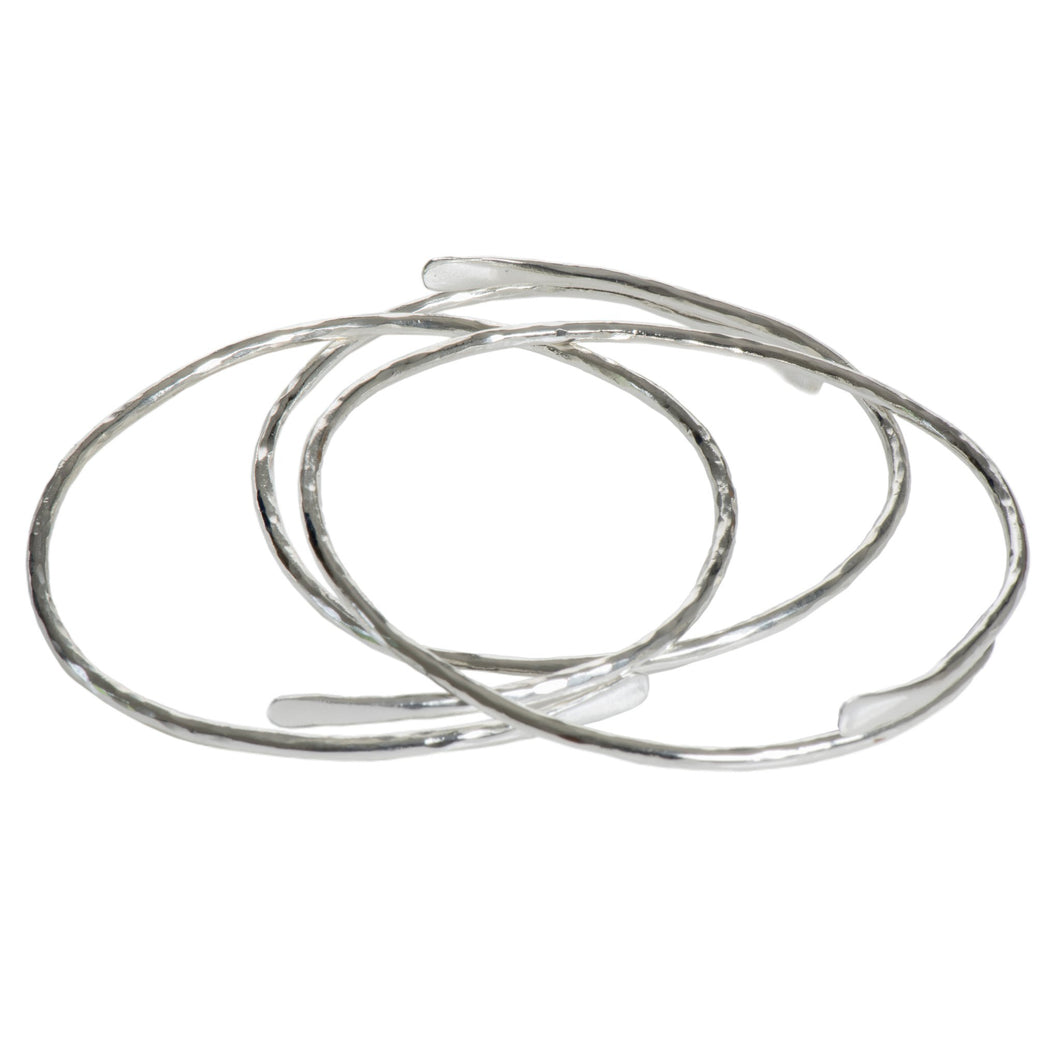 Silver Meadow bangle
