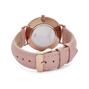 Elie Beaumont large Oxford pink watch