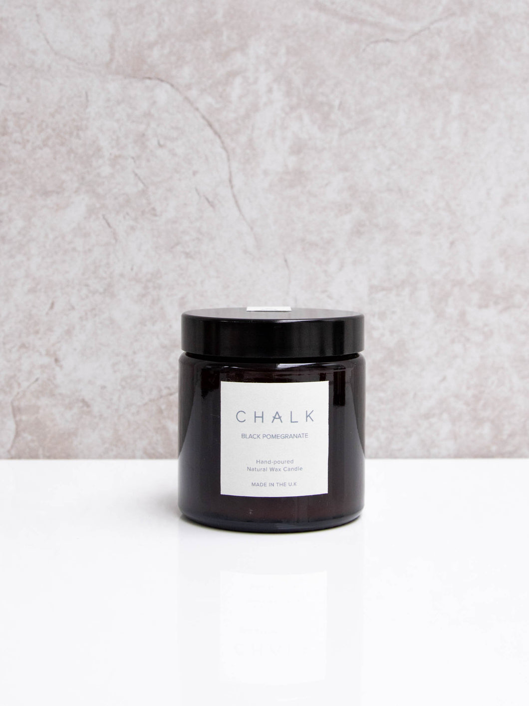 Black pomegranate natural wax candle