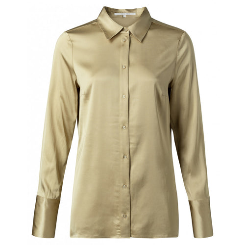 Satin shirt in a soft sand - a wardrobe staple