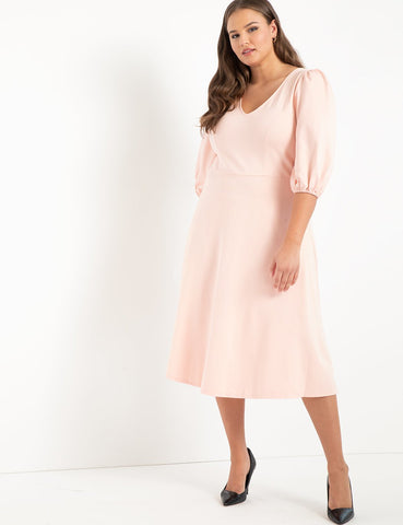 Bow Back Dress in Peachy Keen