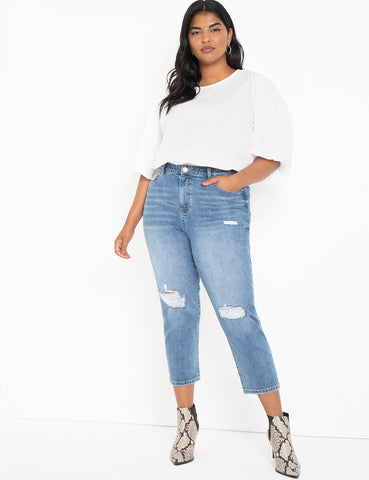 Puff Sleeve Top in Soft White