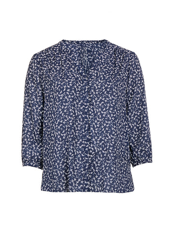 Evening Ditsy Pintuck Top