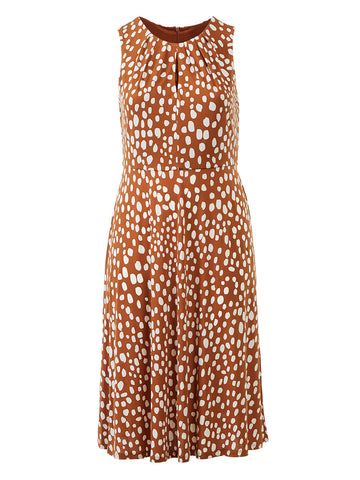 Polka Dot Copper Dress