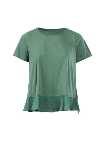 Hi-Lo Hem Lush Green Top