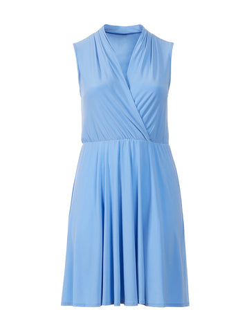 Light Blue Fit-And-Flare Dress