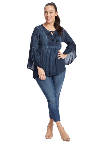 Tassel Peasant Nightfall Top