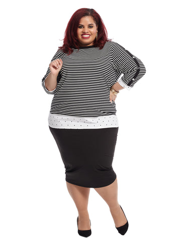 Ottoman Stripe Twofer Top