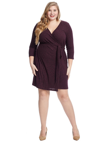 Cozy Purple True Wrap Dress