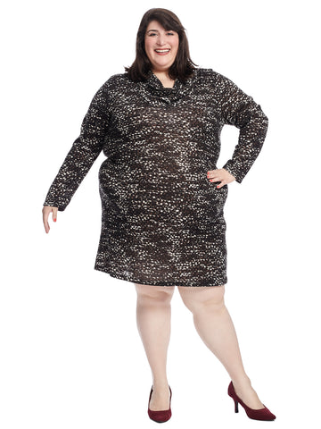 Morgan Brown Multi Sweater Dress
