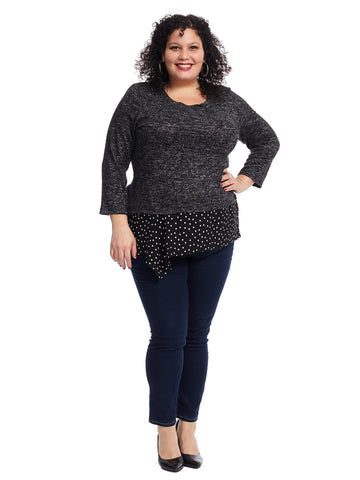 Asymmetric Polka Dot Twofer Top