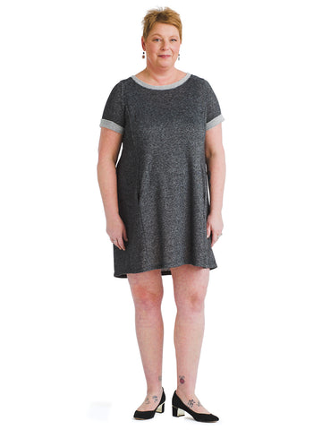 Casual Gray Shift Dress