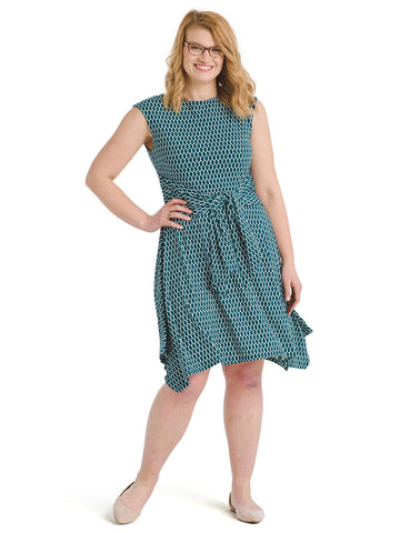 Tie Front Egg Print Dress