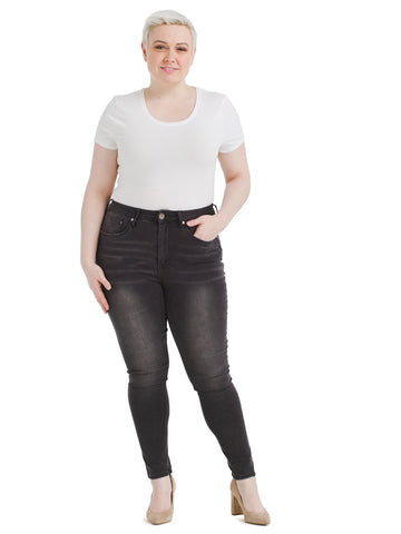 High Rise Dark Night Legging Jeans