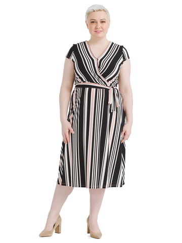 Multi Striped Belted Dress