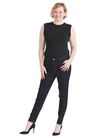 High Rise Ab Technology Ankle Skinny Jeans