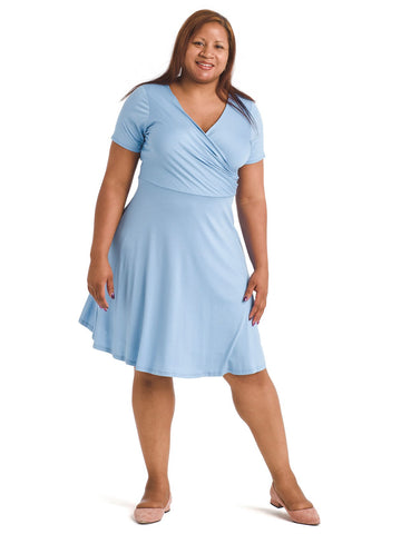 Surplice Sky Blue Dress
