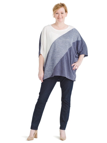 Dolman Sleeve Stripe Top