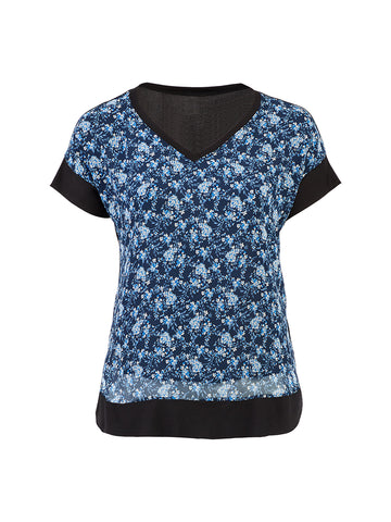 Navy Floral Vella Top