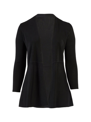 Waist Seam Black Cardigan