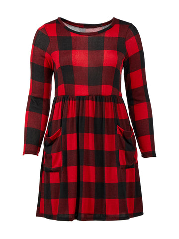 Black And Red Check Dress