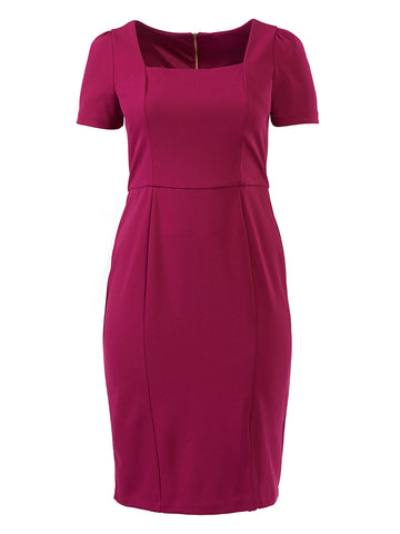 Dark Fuschia Midi Dress