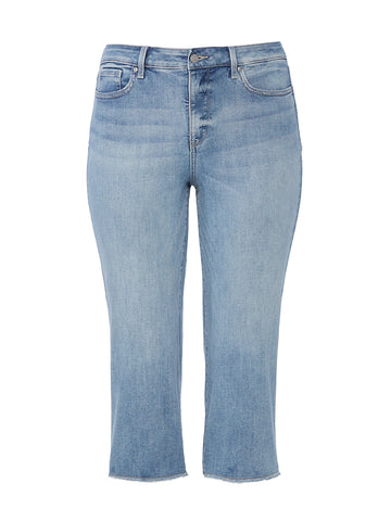 Wide-Leg Coheed Wash Fray Hem Jeans
