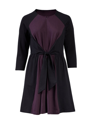 Tie Front Plum Perfect Dress