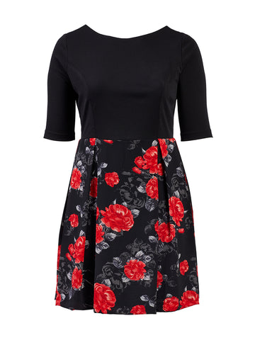 Red Rose Twofer Dress