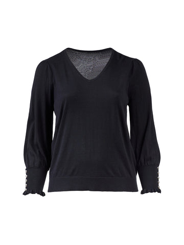 Long Sleeve Black Kietana Sweater