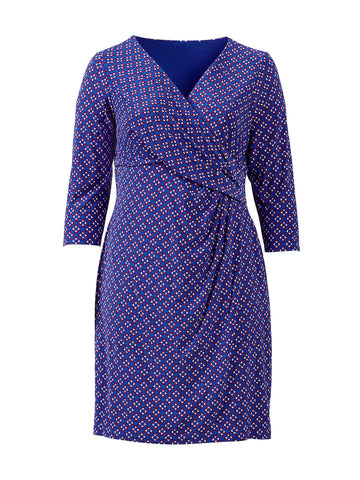 Cleora Blue Geo Print Dress