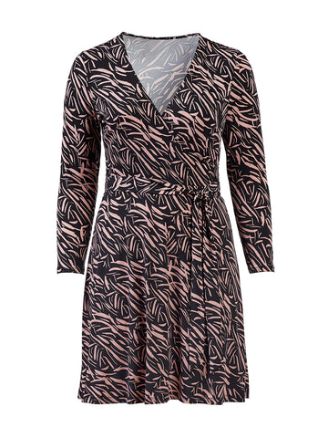 Wood Rose Perfect Wrap Dress